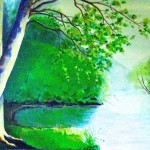 """""""Down By The River"""" Panel one (Sold)"""