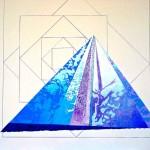 """Dancing Mountain""  (24"" x 30"")       Mixed Medium on Paper"