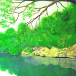 """Down By The River"" panel two (Sold)"