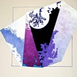 """Dragon Moon""  (16"" x 20"")         Mixed Medium on Paper"