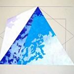 """Snow Slide"" (16"" x 20"")       Mixed Medium on Paper"
