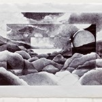 """Stormy Lake""  (19""x30"")  Biro on Paper"